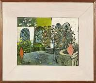 Henry Faulkner OB garden scene 8 14x10 34