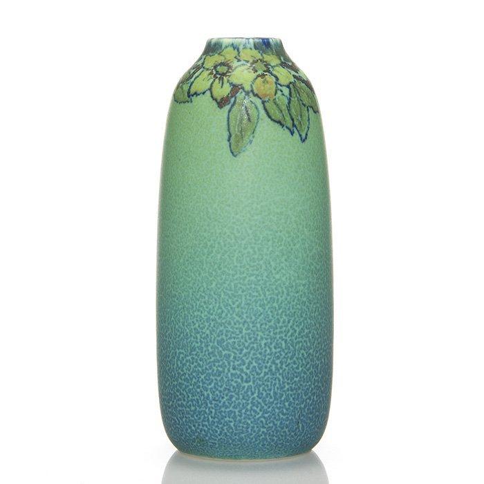 """Rookwood Mat vase, Katherine Jones, 1925, 7 1/2"""""""