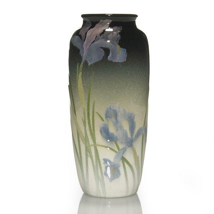 "Rookwood Iris vase, Japanese irises, Bishop, '03, 8"""