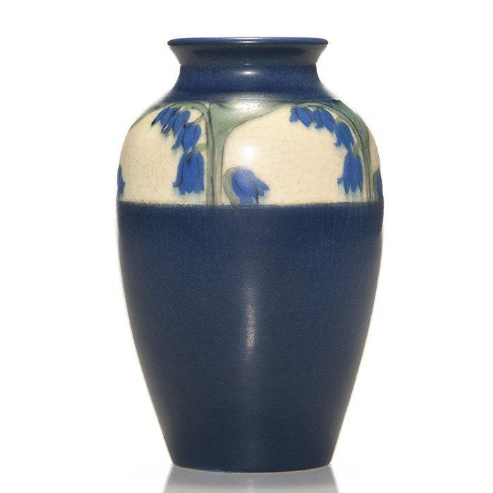 """Rookwood Vellum vase, Steinle, 1917, 605, 5 1/2"""""""