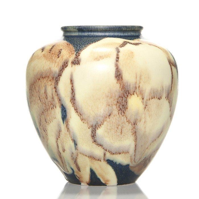 "Rookwood Jensen Mat glaze floral, 1934, 4 3/4"""