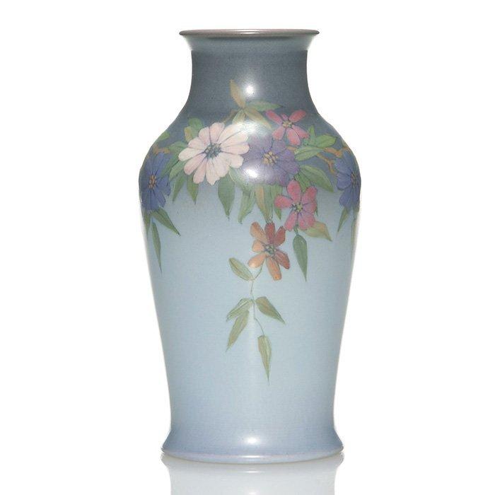 "Rookwood Vellum vase, Asbury, 1923, 2301E, 8 1/4"""