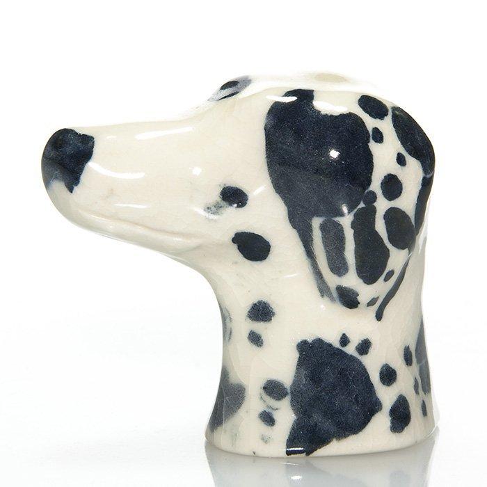 """Rookwood Dalmatian head, 2 1/2"""", 1952, 7103 D"""