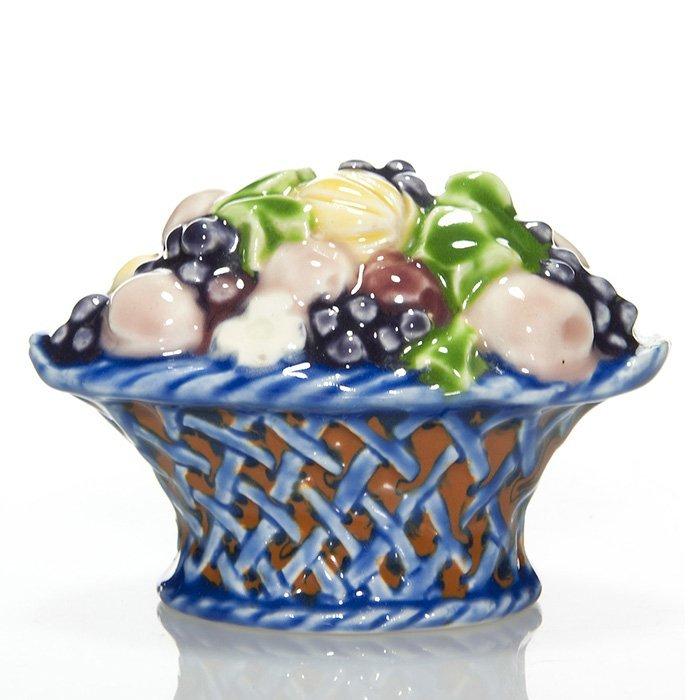 "Rookwood Fruit Basket paperweight, 3"", #6020"