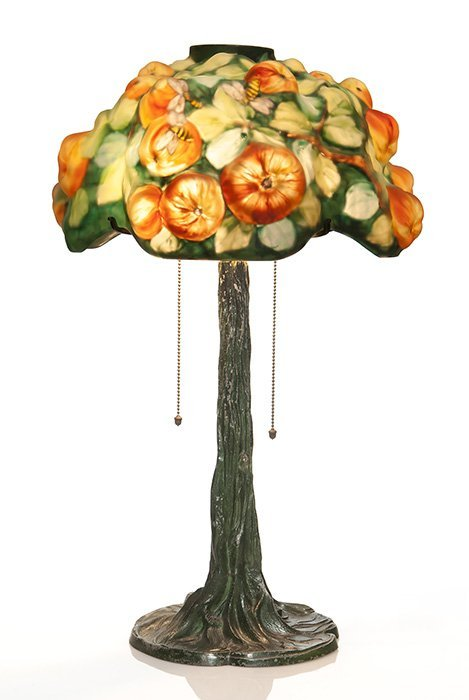 "Pairpoint Puffy ""Apple Tree"" lamp, 16""D, 25""Tall"