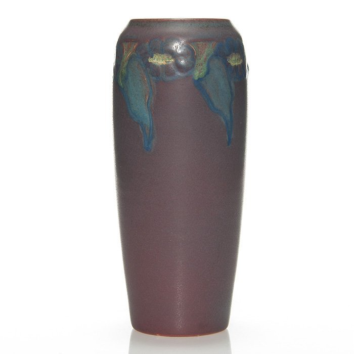 "Rookwood carved mat vase, Todd, 9"",1914, 951 D"