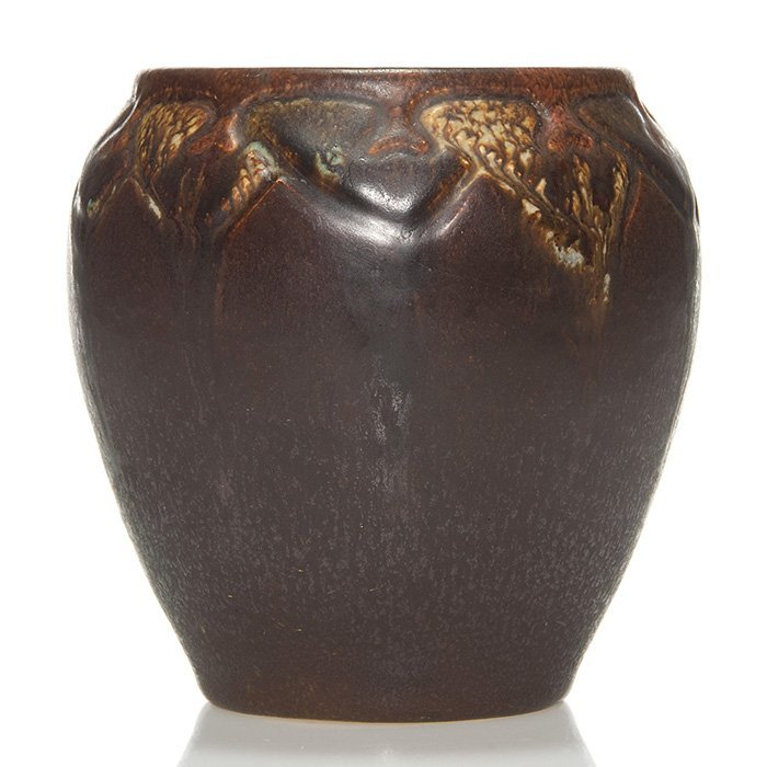 Rookwood carved Ombroso vase,WEH, 1914, 4 3/4""