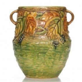 """Roseville Blackberry Vase, #572-6"""""""