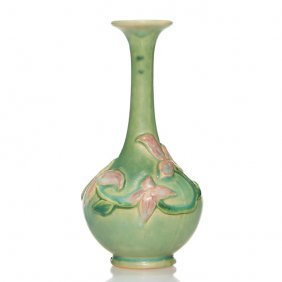 """Roseville Experimental Vase, Floral, 6 1/8"""""""
