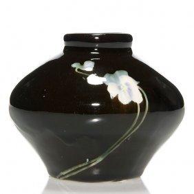 "Owens Soudaneze Vase, Pansies, 4"""