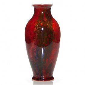 "Royal Doulton Flambe' Vase,fred Moore,7798,10 3/8"""