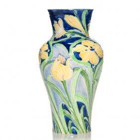 """Moorcroft-macintyre Florian Vase, Tulips, 8 1/2"""""""