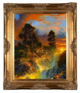 "Dale Terbush Fantasy Landscape 30"" X 24"""