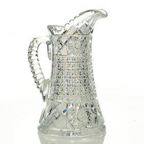 """Sterling Cut Glass Tankard, Hobstars & Diamonds, 1"""""""