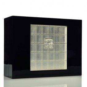 """Lalique """"masque De Femme"""" Lacquer Box,4 1/4x11"""