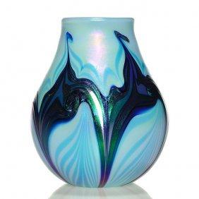 Charles Lotton Vase, Pull Design, 6 1/2, Signed, 2011