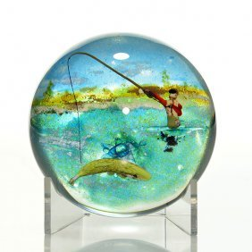 Jim D'onofrio Fly Fisherman Paperweight, 2 3/4""