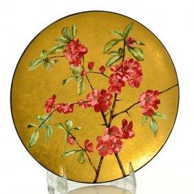 "M.l. Mclaughlin China Plate, Pottery Club, 1883, 9"""