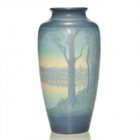 "Rookwood Vellum Vase, Mclaughlin, 1914, 8 5/8"""