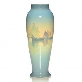 """Rookwood Venice Vase, Schmidt,10 3/4"""", 1923, 1667"""