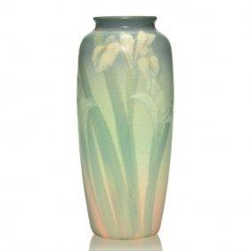 "Rookwood Vellum Vase, Lincoln, 1908, 904 D, 8 1/4"""