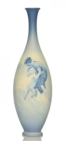 Rookwood Aerial Blue Vase, Mcdonald, 1895, 12 5/8""