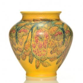 "Rookwood Mat Floral, Abel, 1928, Shape 2831, 5 1/2"""