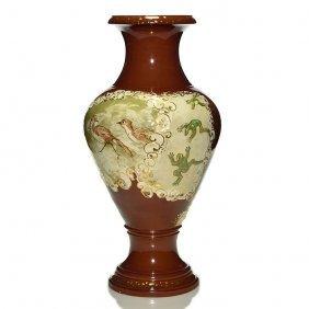 """Rookwood Limoges Vase, Mln?, 1880, 19 1/2"""""""