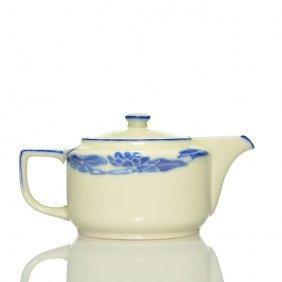 """Rookwood Porcelain Teapot W/lid, 1912, S1890, 4"""""""