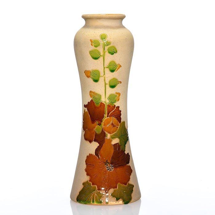"Roseville Fujiyama Woodland vase, 10 3/4"",inkstamp"