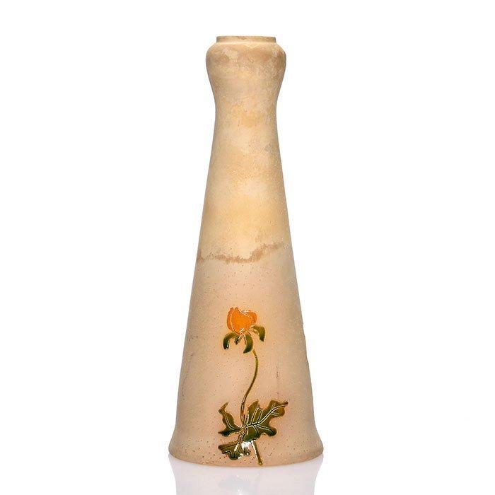 """Roseville Woodland vase, 10 3/4"""", clematis - 2"""