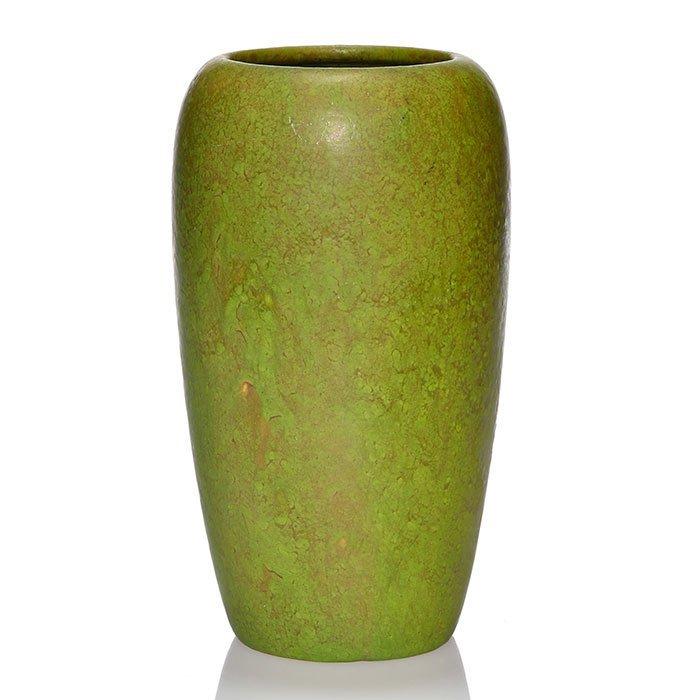 "Roseville Early Carnelian vase, 9"", early mark"