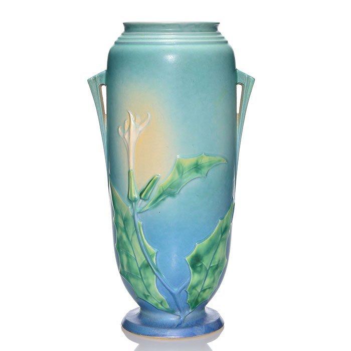 """Roseville Thornapple vase, shape 824-15, 15 5/8"""""""
