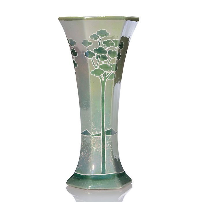 Weller Marengo vase, green, 9""