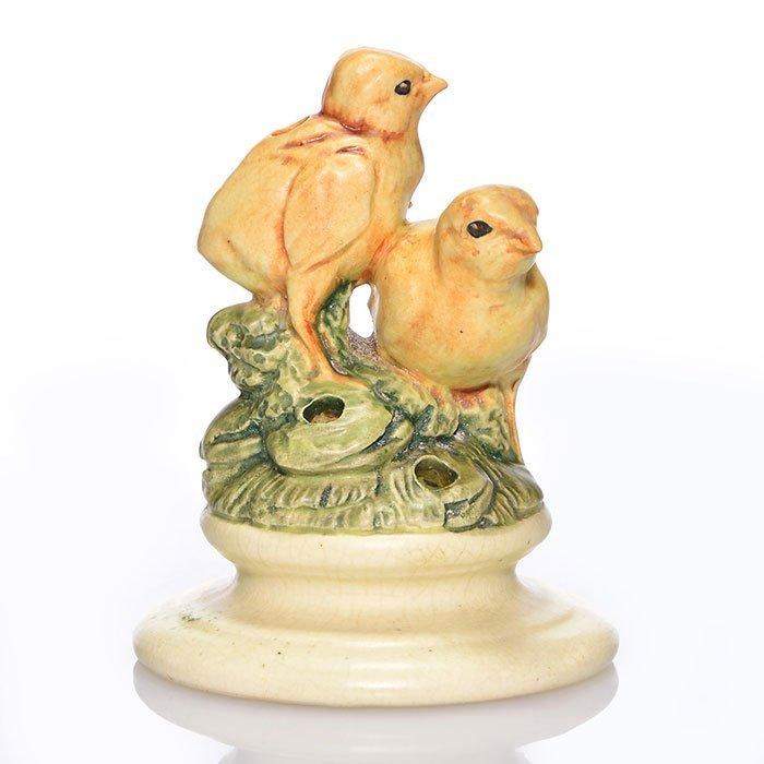 """Weller Muskota, Two Chicks centerpiece, 5 1/8"""""""
