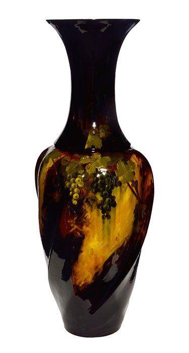 "Monumental Weller Aurelian vase, Roberts, 49 1/4"""