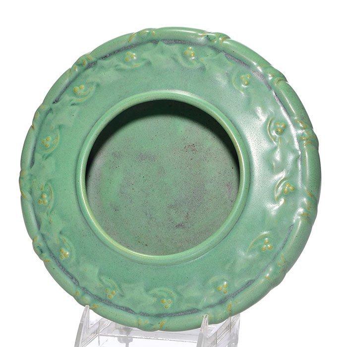 """Teco low bowl, floral pattern, green, 2 3/8 x 9 1/4"""""""