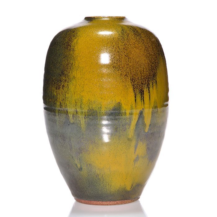 "Ben Owens III crystalline glaze vase, 1992, 8"""