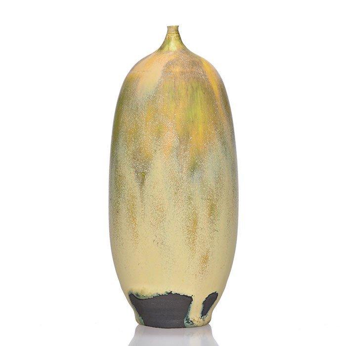 "Rose Cabat Feelie, mottled brown mat glaze, 6 1/8"""