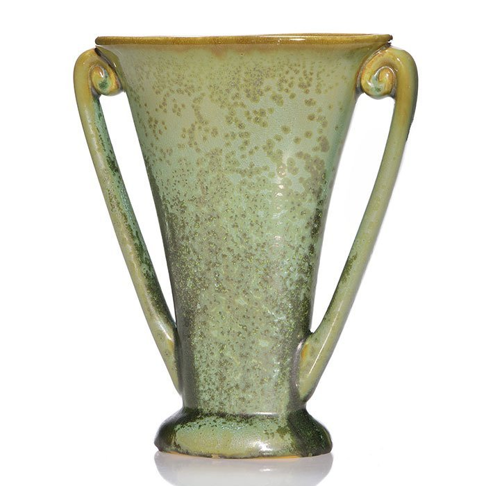 "Fulper leopard skin crystalline vase, 8 1/8"""