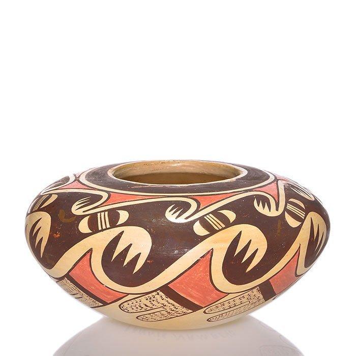 "Fannie Nampeyo Hopi vase, 3 7/8 by 7 1/2"""