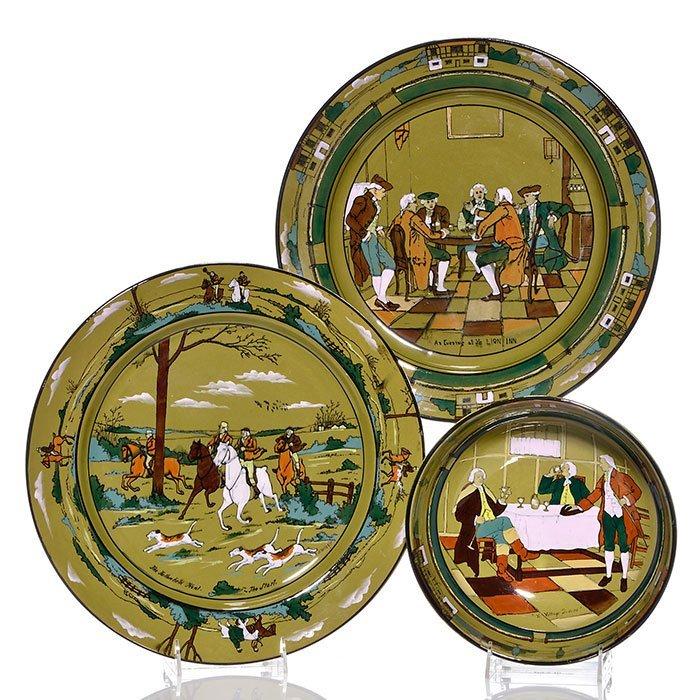 """3 Buffalo pieces.  Large bowl, 2 large plates, 13 3/4"""""""