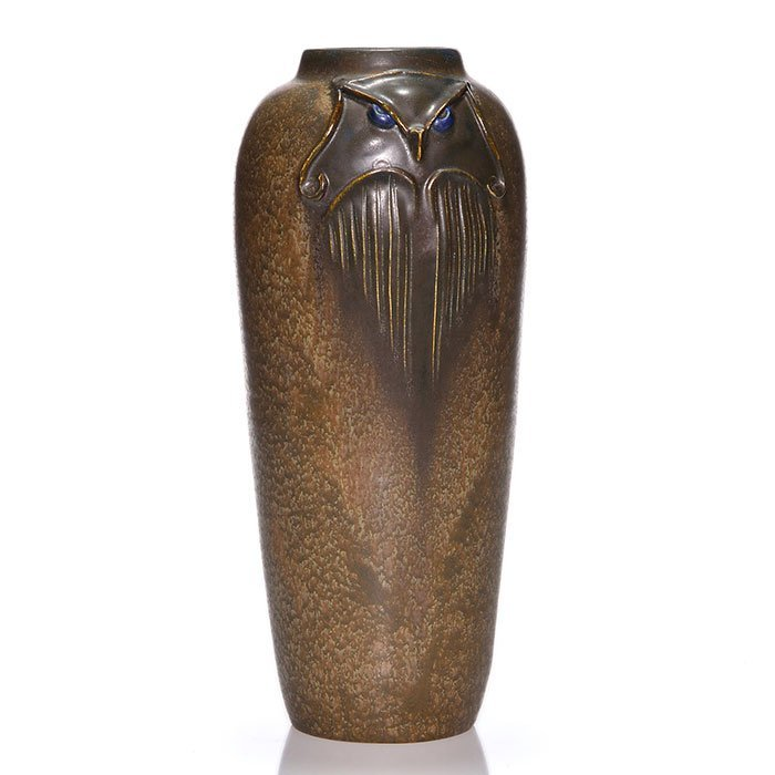 "Ephraim Scholar Owl vase, 2010, mat,  11 1/8"""