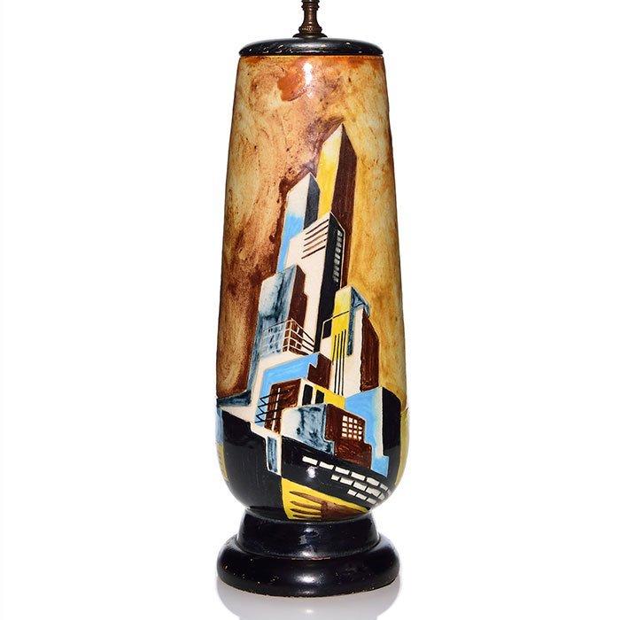 """George Schreiber, Stonelain lamp, 17"""""""