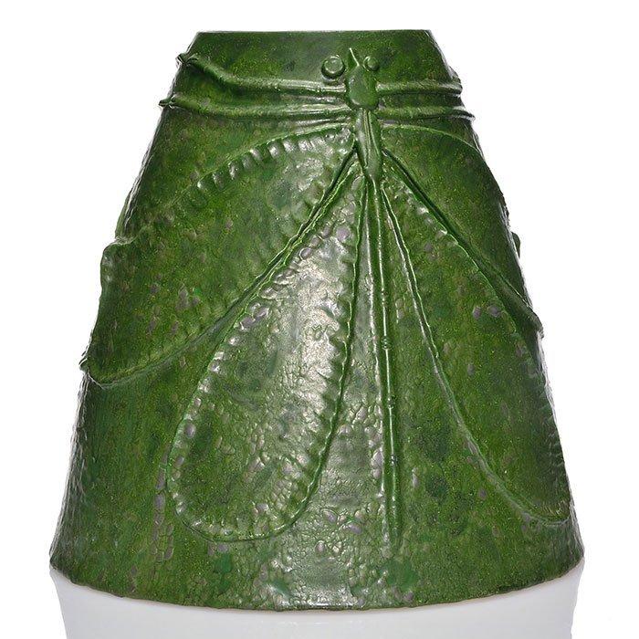 "Scott Draves Studio floor vase, dragonfly, 14 3/4"""