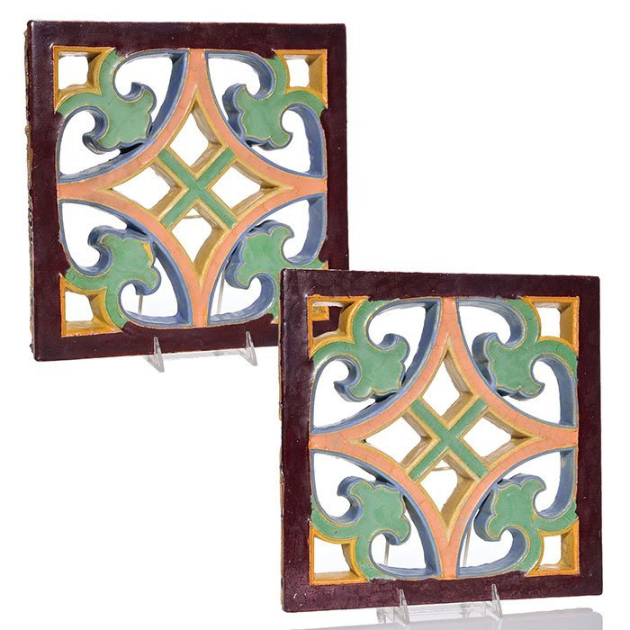 "2 Wheatley cut-out tile grates, 12 1/4"" square"