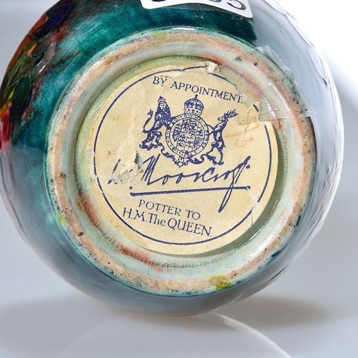 "Moorcroft Flambe' vase, leaf and berry, 3 3/4"" - 3"