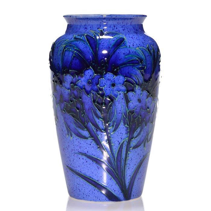 "Moorcroft vase, Powder Blue, Cornflower, 5"""