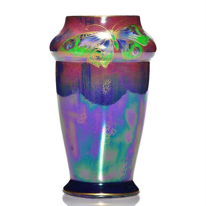 "Shelley Lustreware vase, Walter Slater, 6 3/4"""