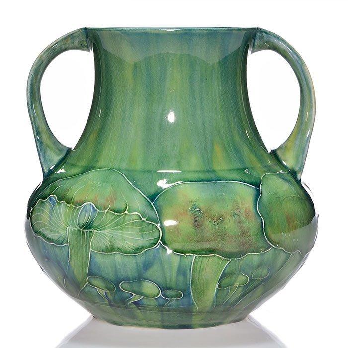 """Moorcroft  early 2 handled Claremont vase, 7 5/8"""""""